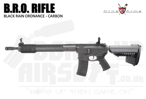 King Arms B.R.O. Airsoft Rifle - Carbon