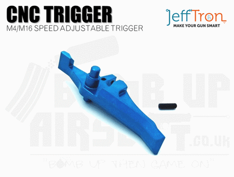 Jefftron CNC M4 / M16 Speed Trigger - Blue