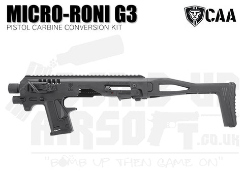 CAA Micro-Roni G3 Pistol Carbine Conversion Kit - Black