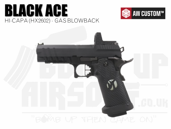 Armorer Works Custom Black Ace Hi-Capa With Reflex Sight (HX2602)