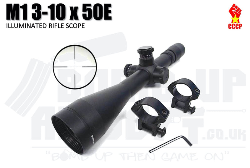CCCP M1 3-10 x 50E Rifle Scope With RIS Mounts