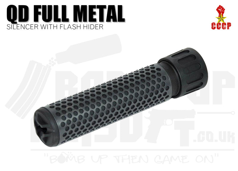 CCCP QD Silencer Full Metal with Flash Hider (Long - Black - 14mm CCW)