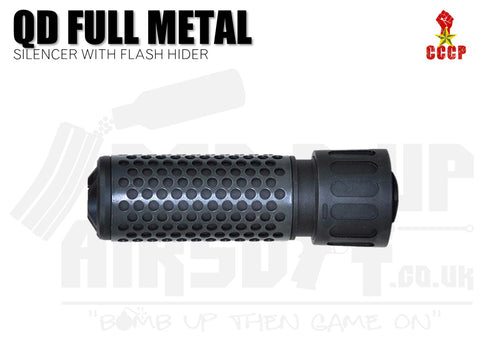CCCP QD Silencer Full Metal with Flash Hider (Short - Black - 14mm CCW)