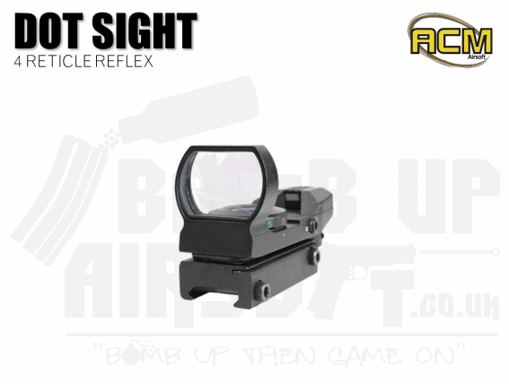 ACM Electro Red Dot 4 Reticle Reflex Sight