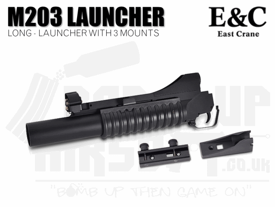 E&C M203 Grenade Launcher With 3 Mounts