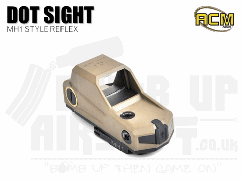 ACM MH1 Style Red Dot Reflex Sight - Tan