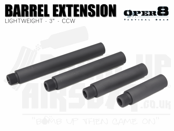 "Oper8 3"" CCW Lightweight Barrel Extension"