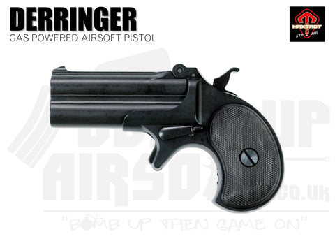Maxtact Derringer Full Metal Airsoft Pistol - Black