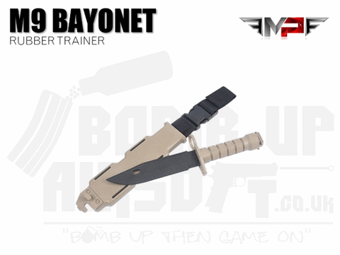 MP M9 Training Bayonet with Sheath - Tan