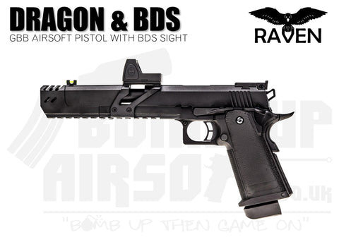 Raven Hi-Capa 7 Dragon GBB Airsoft Pistol With BDS - Black