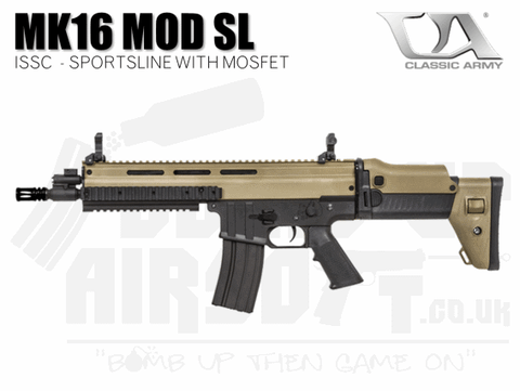 Classic Army MK16 Mod SportsLine With MOSFET - Black and Tan