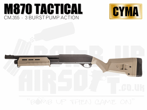CYMA Tactical M870 Operator Shotgun - Tan