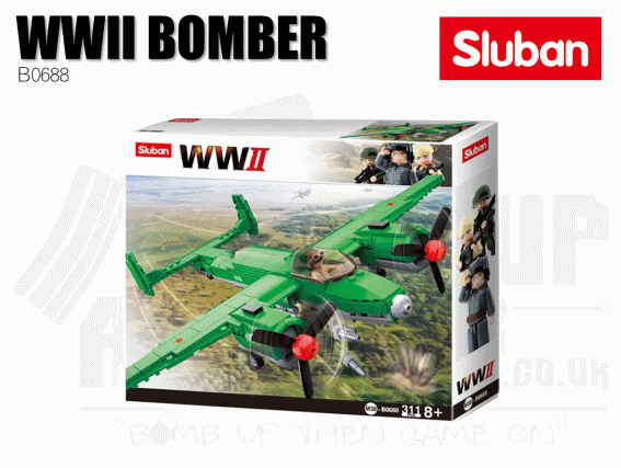 Sluban Bricks B0688 - WWII Allied Bomber
