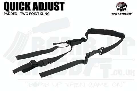 Emerson Gear Quick Adjust Padded Two Point Sling - Black
