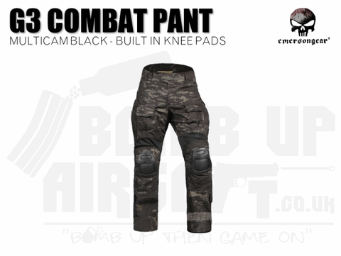 EMERSON G3 COMBAT PANTS MULTICAM BLACK
