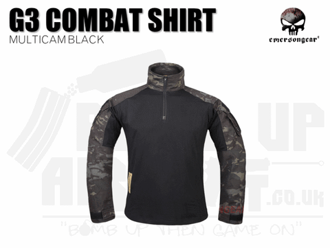 EMERSON G3 COMBAT SHIRT MULTICAM BLACK