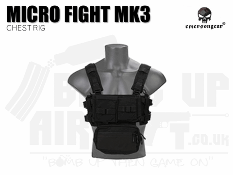 Emerson Gear Micro Fight Chassis MK3 Chest Rig - Black