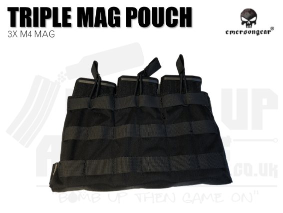 Emerson Gear 5.56 M4 Triple Mag Pouch - Black