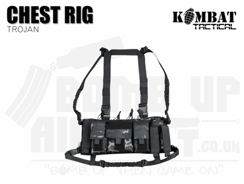 TROJAN CHEST RIG BTP BLACK