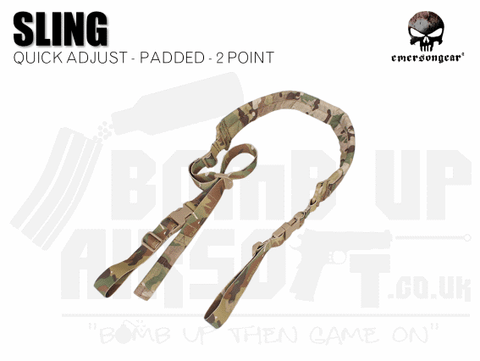 Emerson Gear Quick Adjust Padded Two Point Sling - MTP