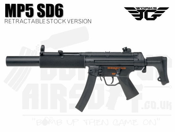 JG Works MP5 SD6 Airsoft rifle