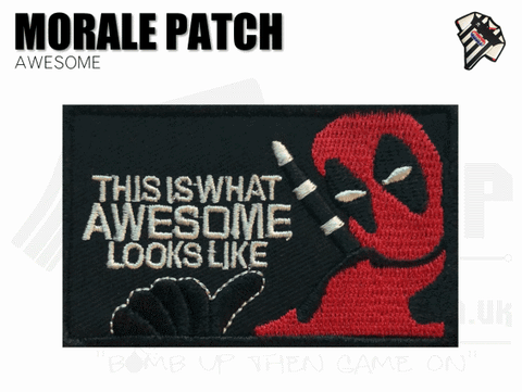 Deadpool Awesome Velcro Backed Patch