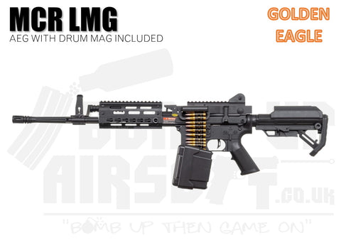 Golden Eagle MCR LMG With Drum Mag Airsoft LMG