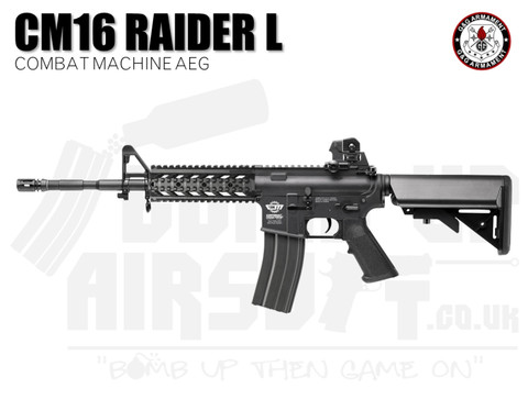 G&G CM16 Raider L Combat Machine AEG Airsoft Rifle - Black