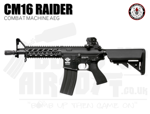 G&G CM16 Raider Combat Machine AEG Airsoft Rifle - Black