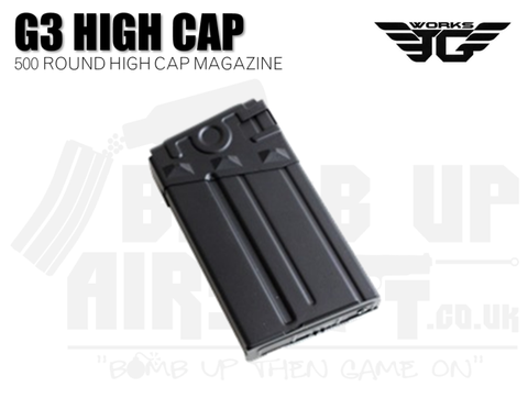 JG Works G3 / T3 High Cap Mag - 500 Rounds