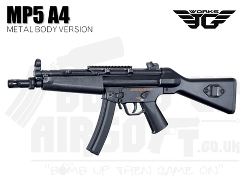 JG Works MP5 A4 AEG Airsoft SMG - Metal Body (MP5-804)