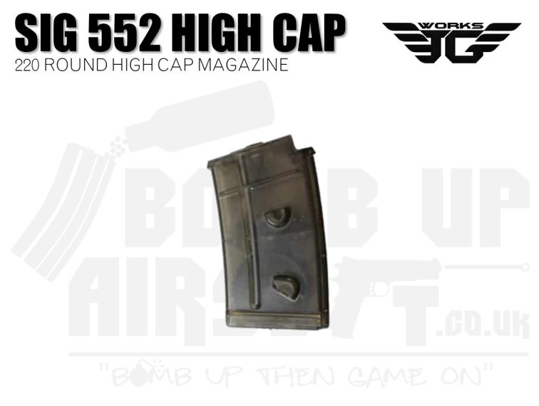 JG Works SIG 552 High Cap Mag - 220 Rounds