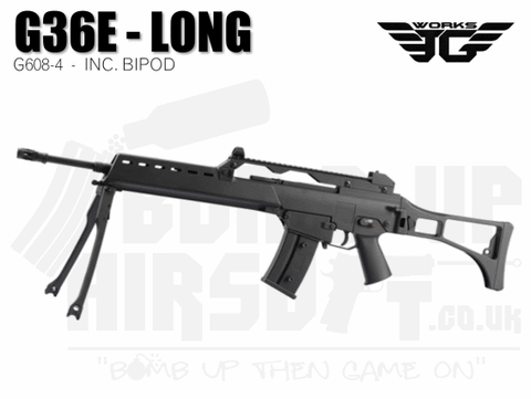 JG G36E - Long With Bipod - G608-4 Airsoft Rifle