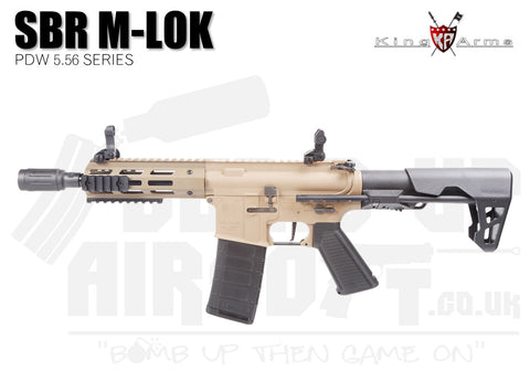 King Arms PDW 5.56 SBR M-LOK - Dark Earth