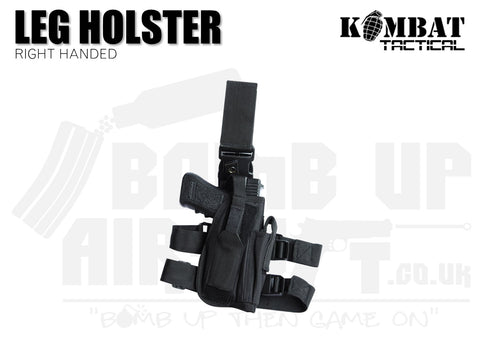 Kombat UK Tactical Leg Holster Right Handed - Black