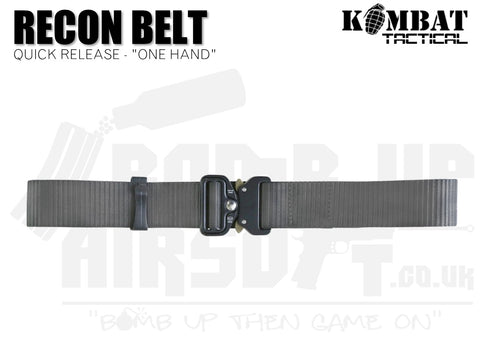 "Kombat UK Recon Belt ""One Hand "" - Gunmetal Grey"