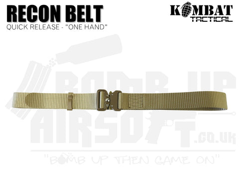 "Kombat UK Recon Belt ""One Hand "" - Tan"