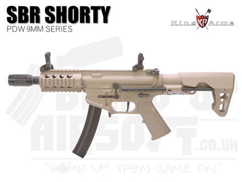 King Arms PDW 9mm SBR Shorty - Dark Earth