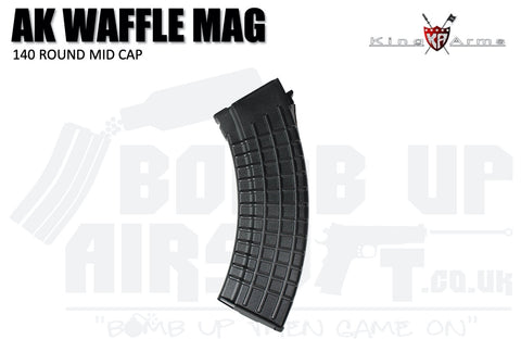 King Arms 140 Round Waffle Mag for TM AK Series