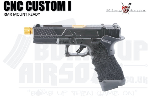 King Arms CNC RMR Mount Ready Custom I - Gas Airsoft Pistol Black