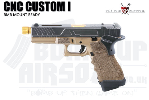 King Arms CNC RMR Mount Ready Custom I - Gas Airsoft Pistol Tan and Black