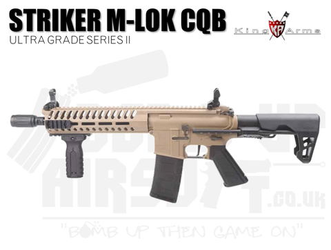 King Arms M4 Striker M-Lok CQB Ultra Grade II - Dark Earth Airsoft Rifle