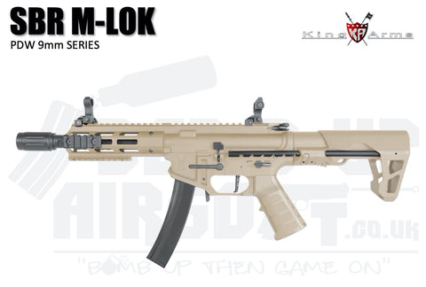 King Arms PDW 9mm SBR M-LOK - Dark Earth