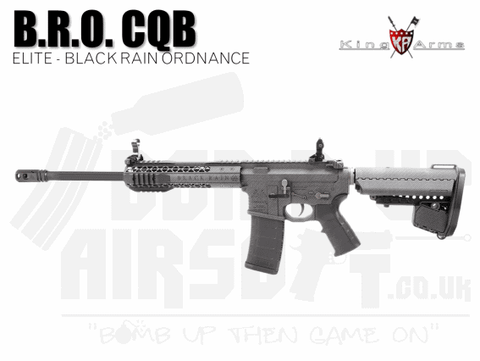 King Arms B.R.O. CQB - Carbon - Airsoft Rifle