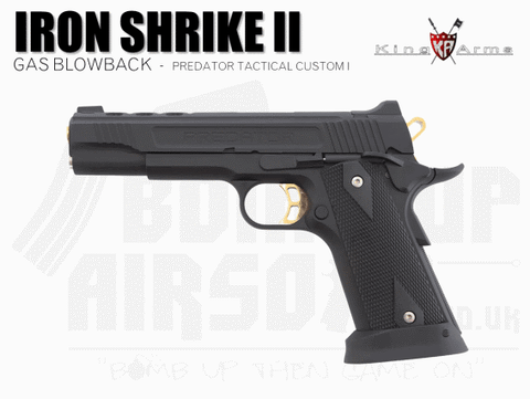 King Arms Predator Tactical Iron Shrike II Custom I - Gas Airsoft Pistol