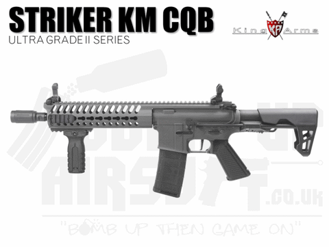 King Arms M4 Striker Keymod CQB Ultra Grade II - Grey Airsoft Rifle
