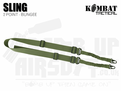 Kombat UK Double Point Bungee Sling - OD Green