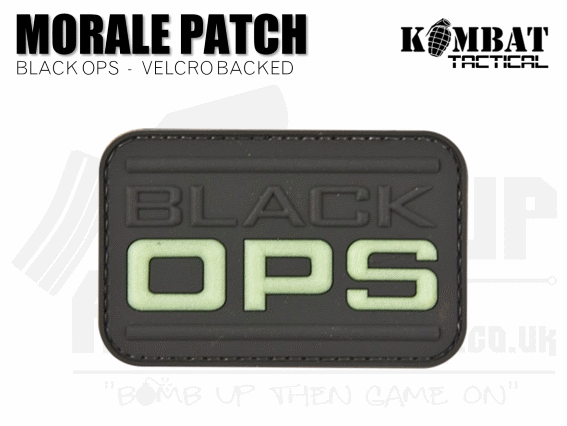 Kombat UK Black Ops Rubber Patch