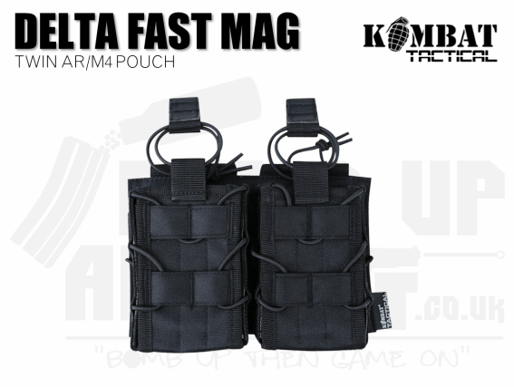 Kombat UK Delta Double Fast Mag Pouch - Black