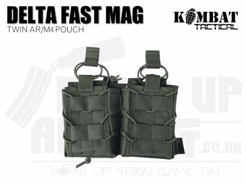 Kombat UK Delta Double Fast Mag Pouch - OD Green